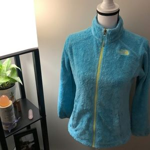 The North Face Girl's Blue x Yellow Fleece Jacket